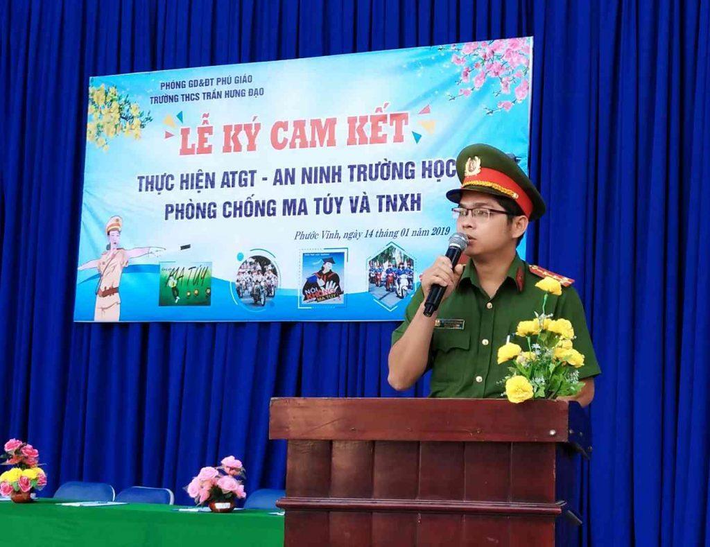 Ký kết ATGT Trường THCS Trần Hưng Đạo